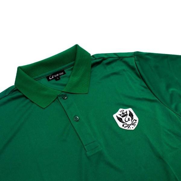 ライトドライポロシャツ 半袖 吸汗&速乾  ゴルフエンブレム グリーン サイズM・L ゴルフ ラウンド|izumigolf|03