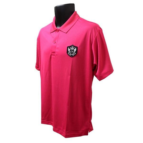 ライトドライポロシャツ 半袖 吸汗&速乾  ゴルフエンブレム ピンク サイズXL ゴルフ ラウンド|izumigolf|02