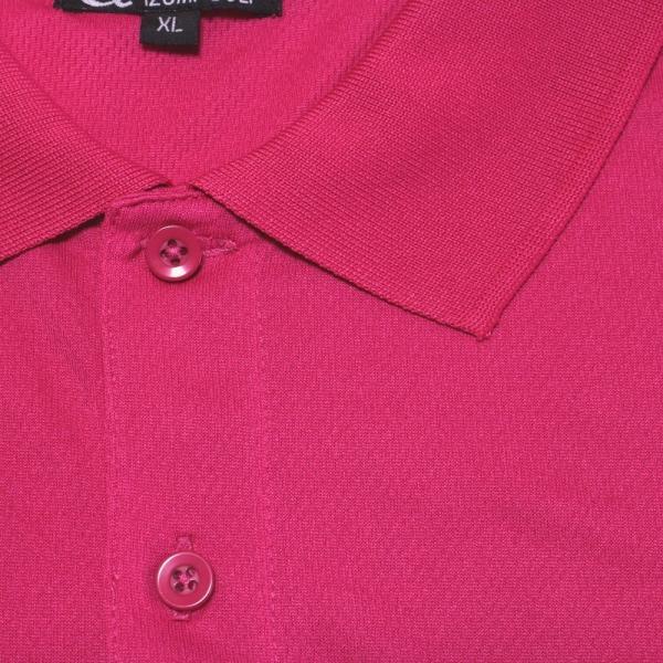 ライトドライポロシャツ 半袖 吸汗&速乾  ゴルフエンブレム ピンク サイズXL ゴルフ ラウンド|izumigolf|04