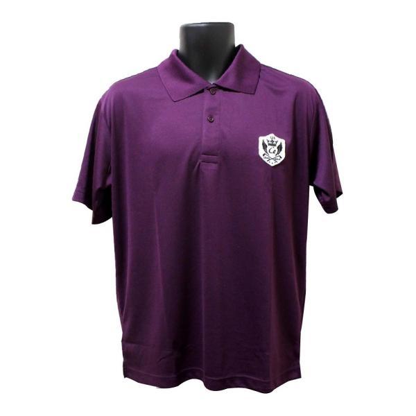 ライトドライポロシャツ 半袖 吸汗&速乾  ゴルフエンブレム パープル サイズM・XL・XXL ゴルフ ラウンド|izumigolf