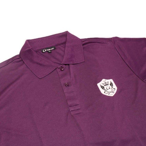 ライトドライポロシャツ 半袖 吸汗&速乾  ゴルフエンブレム パープル サイズM・XL・XXL|izumigolf|03