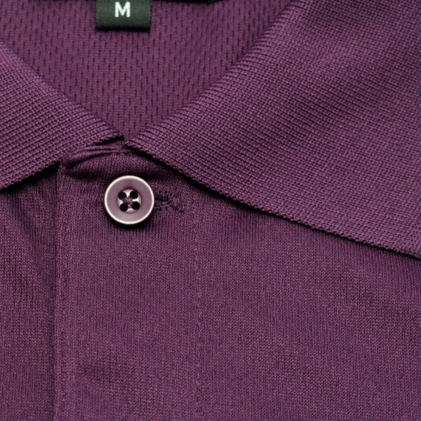 ライトドライポロシャツ 半袖 吸汗&速乾  ゴルフエンブレム パープル サイズM・XL・XXL|izumigolf|04