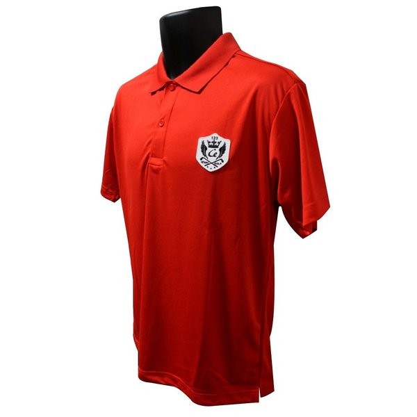ライトドライポロシャツ 半袖 吸汗&速乾  ゴルフエンブレム レッド サイズM・L|izumigolf|02