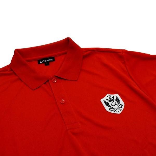ライトドライポロシャツ 半袖 吸汗&速乾  ゴルフエンブレム レッド サイズM・L|izumigolf|03