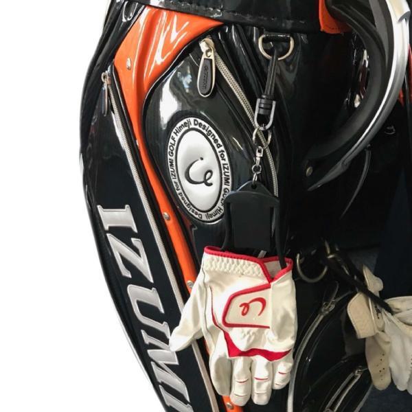 ゴルフ グローブハンガー / キーパー グローブホルダー 型崩れ防止 乾かす 左右兼用 取付フック付き ブラック izumigolf 05
