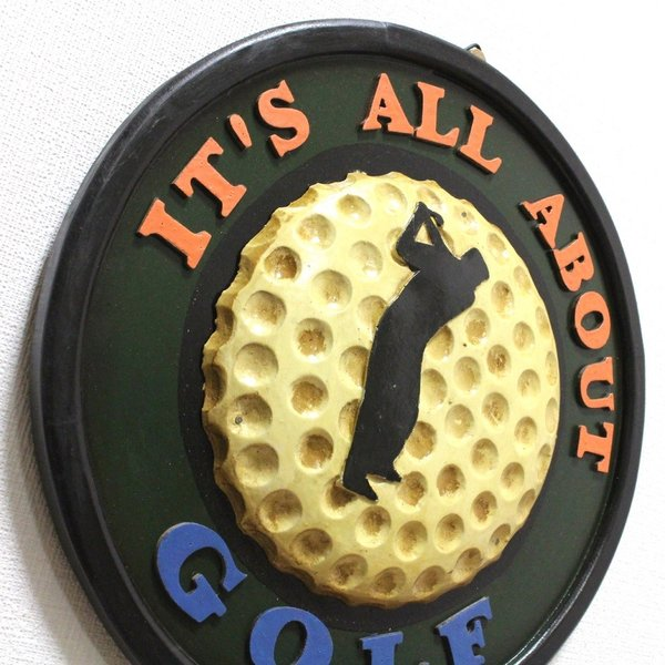アンティーク インテリアボード ゴルフ GOLF 木製 壁掛けタイプ|izumigolf|02
