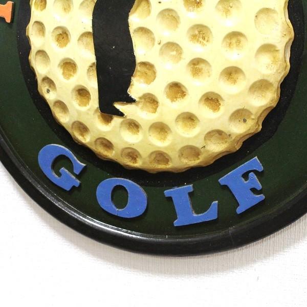 アンティーク インテリアボード ゴルフ GOLF 木製 壁掛けタイプ|izumigolf|03