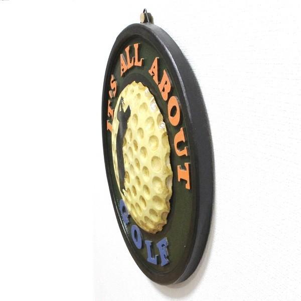 アンティーク インテリアボード ゴルフ GOLF 木製 壁掛けタイプ|izumigolf|04