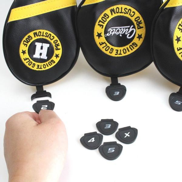 ゴルフ GUIOTE ヘッドカバー 4点セット ビール beer ブラック #1・#3・#5・H ドライバー・フェアウェイウッド・ユーティリティー|izumigolf|05