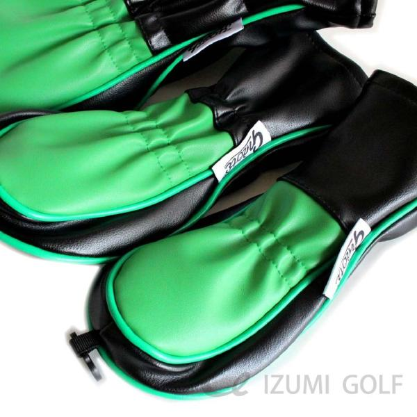 ゴルフ GUIOTE ヘッドカバー 4点セット クローバー ブラック #1・#3・#5・H ドライバー・フェアウェイウッド・ユーティリティー|izumigolf|03