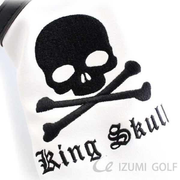 ゴルフ GUIOTE ヘッドカバー 4点セット スカル ホワイト #1・#3・#5・H ドライバー・フェアウェイウッド・ユーティリティー|izumigolf|02