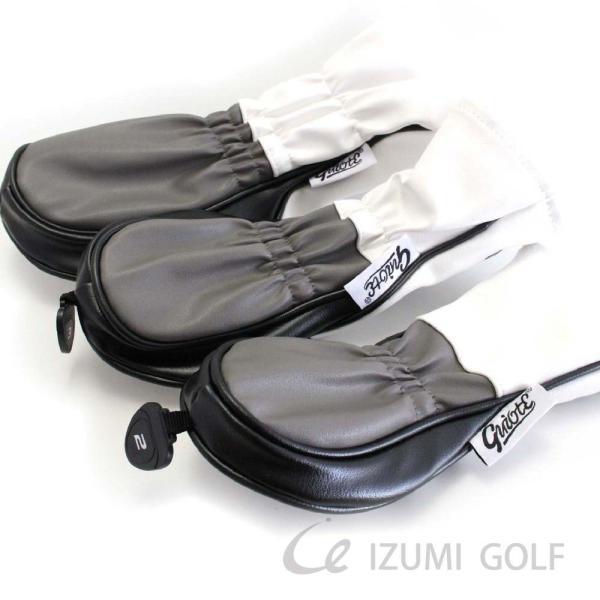 ゴルフ GUIOTE ヘッドカバー 4点セット スカル ホワイト #1・#3・#5・H ドライバー・フェアウェイウッド・ユーティリティー|izumigolf|03
