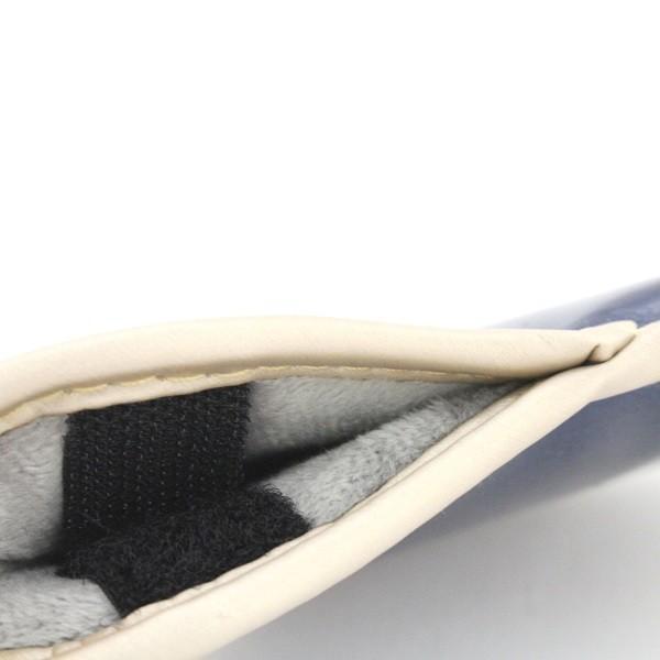 エナメル アイアン ヘッドカバー 3〜Pw 刺繍番手入り10点セット PUレザー ネイビーxゴールド|izumigolf|06