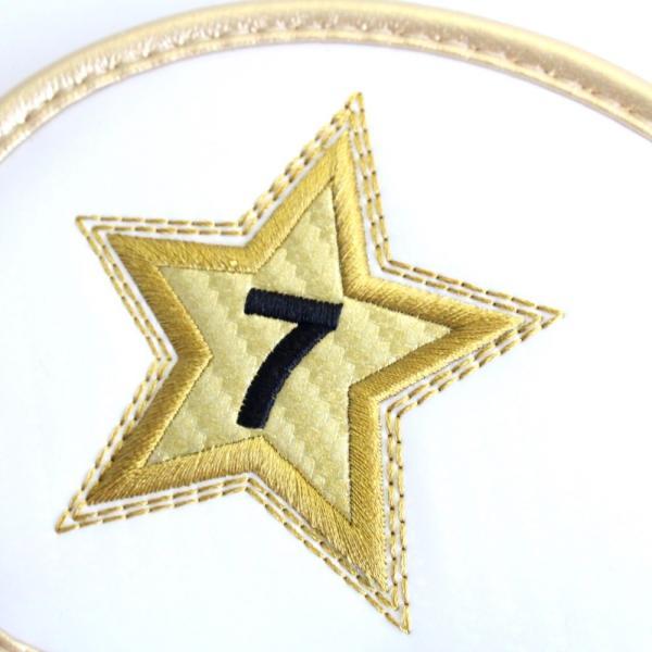 エナメル アイアン ヘッドカバー 3〜P スター ホワイト 刺繍番手入り10点セット PUレザー|izumigolf|05