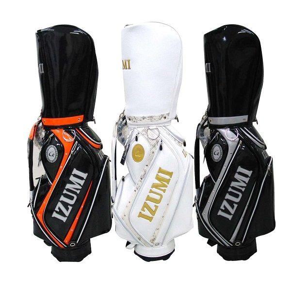イズミゴルフ ゴルフバッグ / キャディバッグ 《ブラックxオレンジ ・ ホワイトxゴールド ・ ブラックxシルバー》|izumigolf