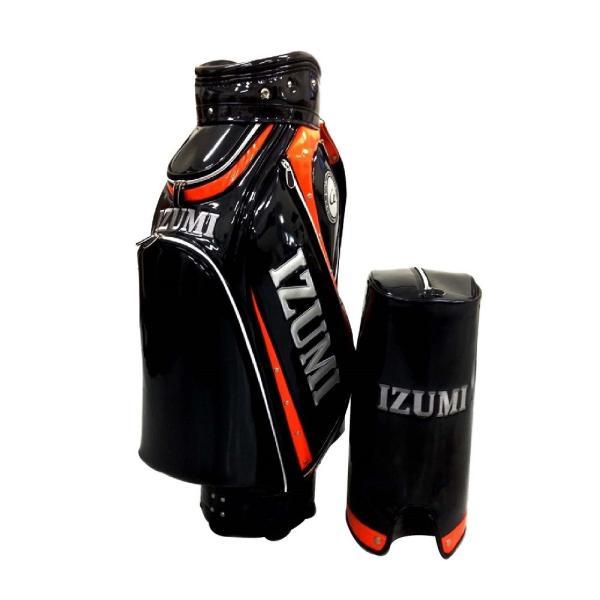 イズミゴルフ ゴルフバッグ / キャディバッグ 《ブラックxオレンジ ・ ホワイトxゴールド ・ ブラックxシルバー》|izumigolf|02