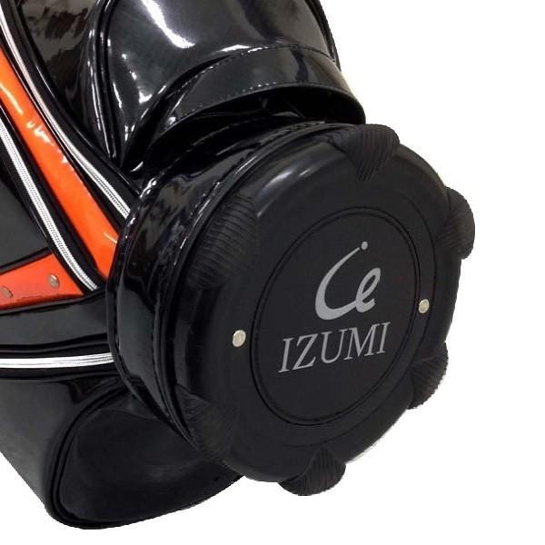 イズミゴルフ ゴルフバッグ / キャディバッグ 《ブラックxオレンジ ・ ホワイトxゴールド ・ ブラックxシルバー》|izumigolf|06