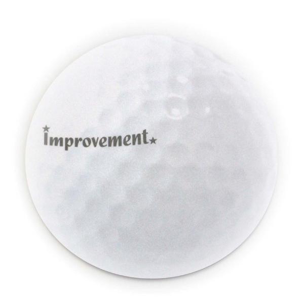 ゴルフボール型 マウスパッド 直径180mmx厚み3mm ホワイト izumigolf 02