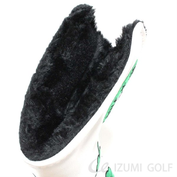 ゴルフ パターカバー PUレザー クローバー Clover 刺繍 ホワイト・ブラック GUIOTE izumigolf 06