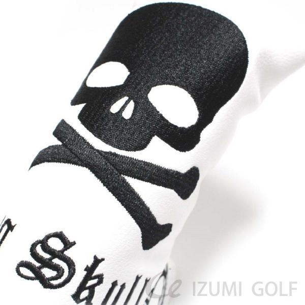 ゴルフ パターカバー PUレザー スカル Skull 刺繍 ホワイト・ブラック GUIOTE|izumigolf|04