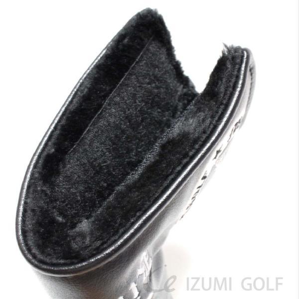 ゴルフ パターカバー PUレザー スカル Skull 刺繍 ホワイト・ブラック GUIOTE|izumigolf|06