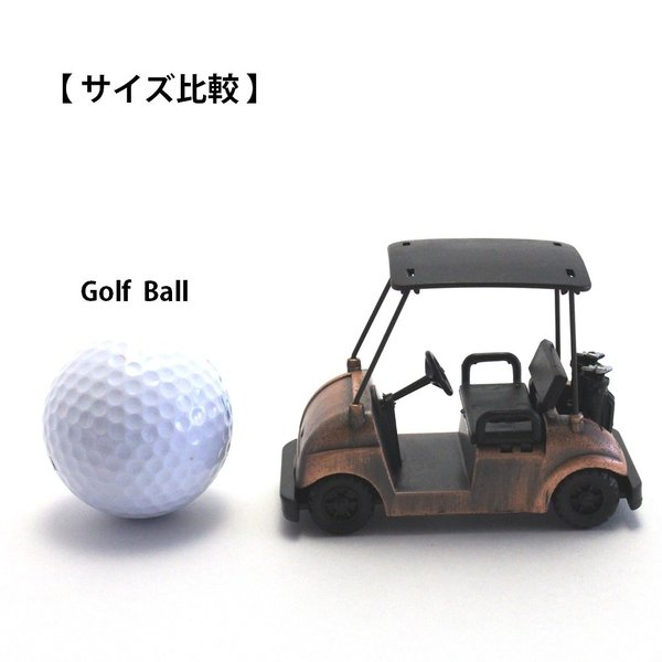 ペンシルシャープナー / 鉛筆削り ゴルフカート Golf Cart 文房具 置物 カラー:ブロンズ |izumigolf|06