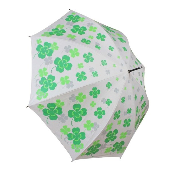ゴルフ傘 レディース 耐風 クローバー柄 UV加工 晴雨兼用 親骨65cm ギフトラッピング無料|izumigolf