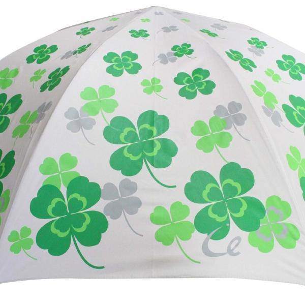 ゴルフ傘 レディース 耐風 クローバー柄 UV加工 晴雨兼用 親骨65cm ギフトラッピング無料|izumigolf|02
