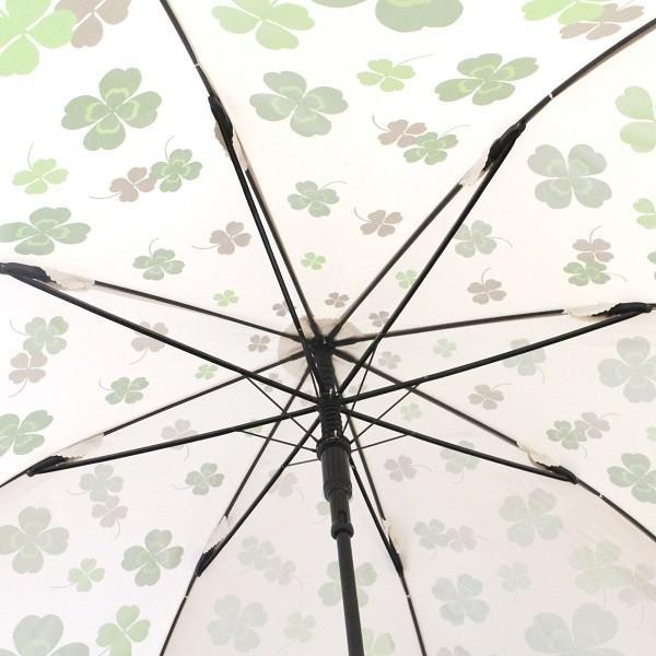 ゴルフ傘 レディース 耐風 クローバー柄 UV加工 晴雨兼用 親骨65cm ギフトラッピング無料|izumigolf|04