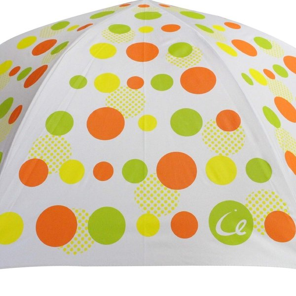 ゴルフ傘 レディース 耐風 オレンジドット柄 UV加工 晴雨兼用 親骨65cm ゴルフ ラウンド ギフトラッピング無料|izumigolf|02