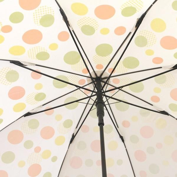 ゴルフ傘 レディース 耐風 オレンジドット柄 UV加工 晴雨兼用 親骨65cm ゴルフ ラウンド ギフトラッピング無料|izumigolf|04