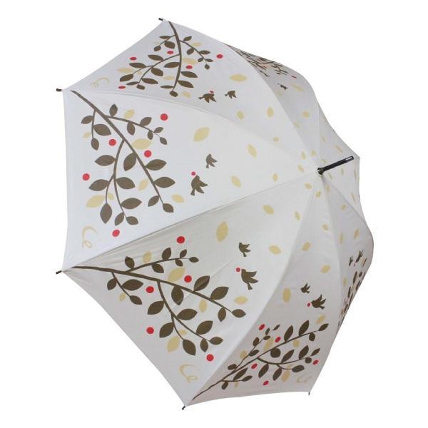 ゴルフ傘 レディース 耐風  ツリー&バード柄 UV加工 晴雨兼用 親骨65cm ギフトラッピング無料|izumigolf