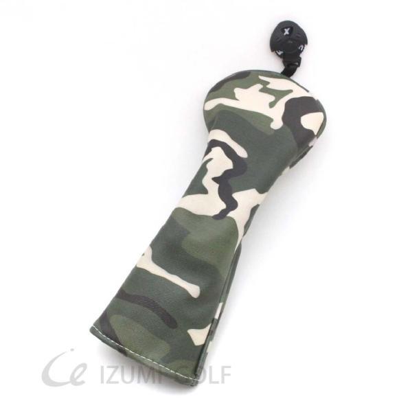 ゴルフ ヘッドカバー ユーティリティ用 camouflage カモフラージュ柄 PUレザー ダイヤル式ナンバータグ付 izumigolf