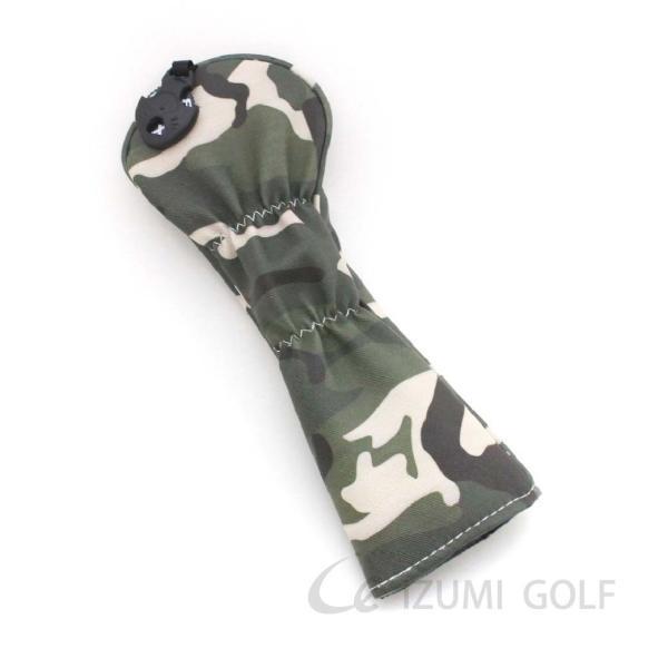 ゴルフ ヘッドカバー ユーティリティ用 camouflage カモフラージュ柄 PUレザー ダイヤル式ナンバータグ付 izumigolf 02