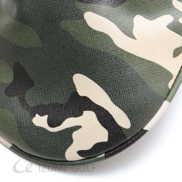 ゴルフ ヘッドカバー ユーティリティ用 camouflage カモフラージュ柄 PUレザー ダイヤル式ナンバータグ付 izumigolf 03
