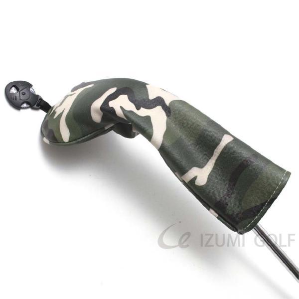 ゴルフ ヘッドカバー ユーティリティ用 camouflage カモフラージュ柄 PUレザー ダイヤル式ナンバータグ付 izumigolf 06