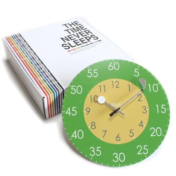 ゴルフ 掛け時計 ウォールクロック 木製 ゴルフクラブ&ゴルフボールの時計針 直径30cm スイープムーブメント 静音 インテリア ギフト ゴルフコンペ|izumigolf|02
