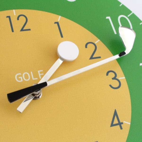 ゴルフ 掛け時計 ウォールクロック 木製 ゴルフクラブ&ゴルフボールの時計針 直径30cm スイープムーブメント 静音 インテリア ギフト ゴルフコンペ|izumigolf|04