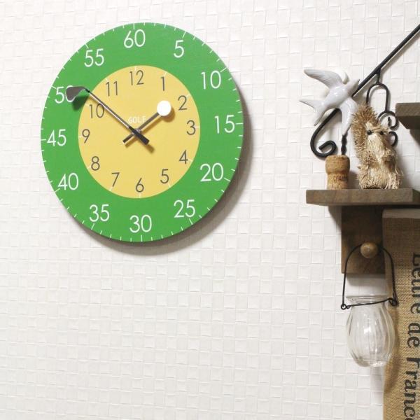 ゴルフ 掛け時計 ウォールクロック 木製 ゴルフクラブ&ゴルフボールの時計針 直径30cm スイープムーブメント 静音 インテリア ギフト ゴルフコンペ|izumigolf|05