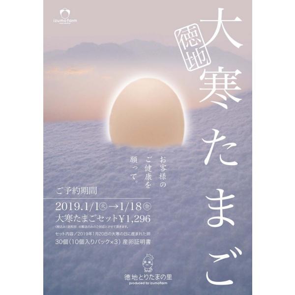徳地大寒たまご30個入り 産卵証明書付き(予約期間1月18日まで)|izumofarm