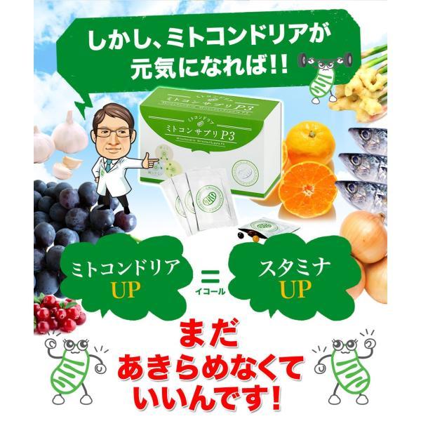 ミトコンドリア サプリメント ミトコンサプリP3 約1ヶ月分 30袋|j-cosme|03