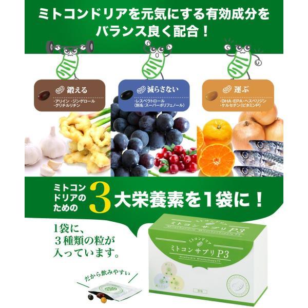 ミトコンドリア サプリメント ミトコンサプリP3 約1ヶ月分 30袋|j-cosme|04