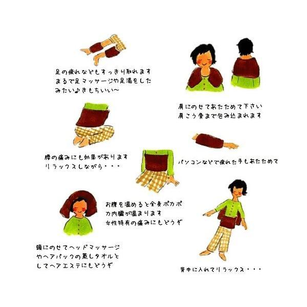 楽草ホットパット大・L 電子レンジ お腹 腰 肩 お尻 温め ハーブ 薬草 ホットパッド ゴーゴーパラダイス|j-cosme|02