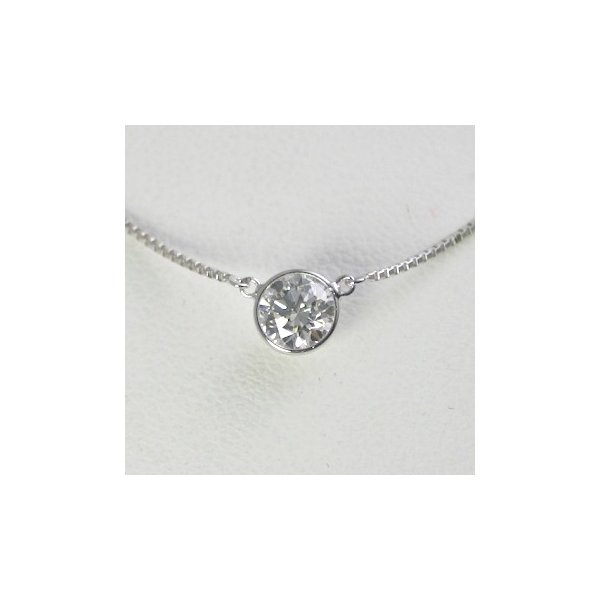 ダイヤモンド ネックレス 一粒 バイザヤード プラチナ 0.6カラット 鑑定書付  0.63ct Dカラー VS2クラス 3EXカット GIA