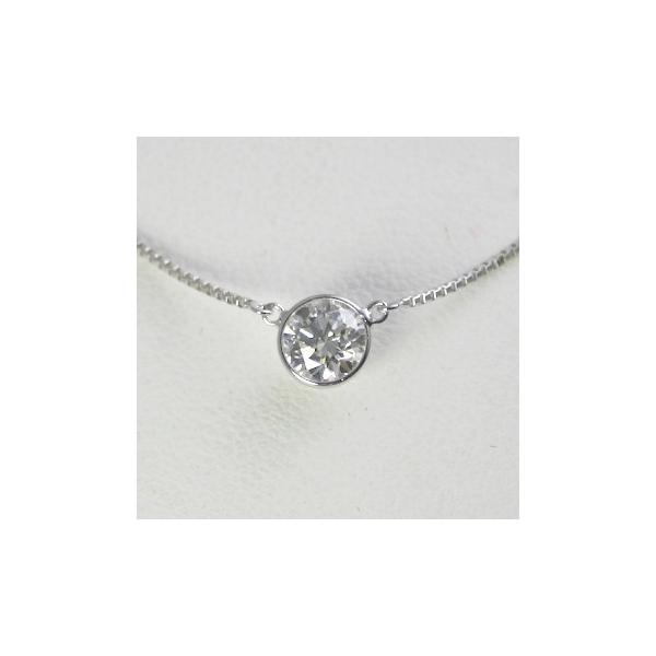 ダイヤモンド ネックレス 一粒 バイザヤード プラチナ 0.5カラット 鑑定書付  0.50ct Dカラー SI1クラス 3EXカット GIA