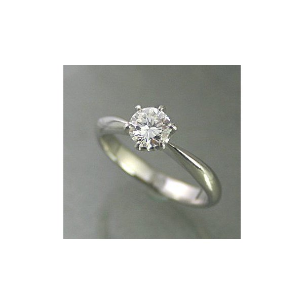 婚約指輪 シンプル 安い ダイヤモンド プラチナ 0.2カラット ティファニータイプ枠 鑑定書付 0.22ct D VVS2 EXカット GIA 通販