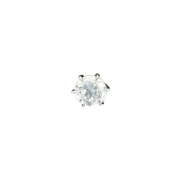 ダイヤモンド ピアス 一粒 片耳 0.2カラット プラチナ 鑑定書付 0.28ct Dカラー VS2クラス 3EXカット GIA