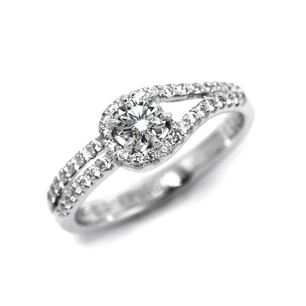 婚約指輪 安い プラチナ ダイヤモンド リング 0.3カラット 鑑定書付 0.330ct Fカラー VVS2クラス 3EXカット H&C CGL 通販