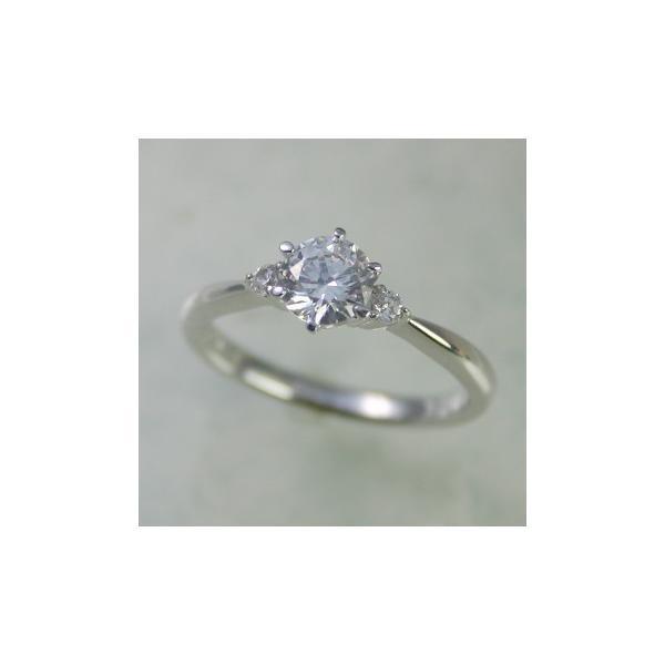 婚約指輪 安い エンゲージリング ダイヤモンド 0.3カラット プラチナ 鑑定書付 0.375ct Dカラー IFクラス 3EXカット H&C CGL