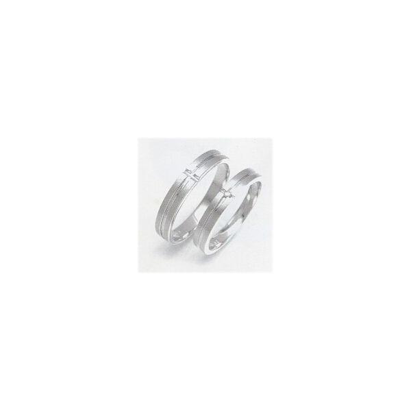 結婚指輪 ホワイトゴールド ペアリング 安い マリッジリング K10WG レディースリング内側にブルーダイヤ 筆記体日本語刻印無料|j-kimura